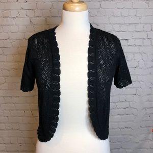 Black Knit Shrug Kate & Mallory